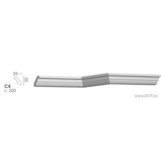 Карниз потолочный гипсовый C4