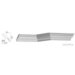 Карниз потолочный гипсовый C9