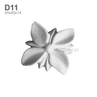 Цветок гипсовый барельеф D11