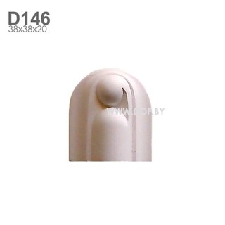 Соединитель барельеф гипсовый D146