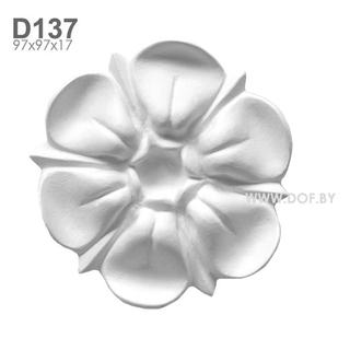 Цветок гипсовый барельеф D137
