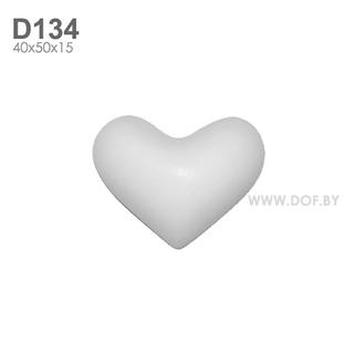 Сердечко, барельеф гипсовый D134