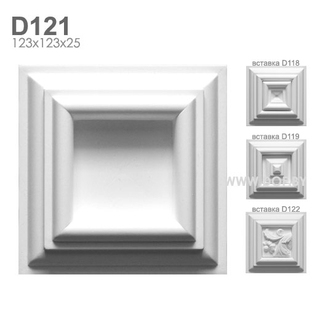 Плитка барельеф гипсовый D121