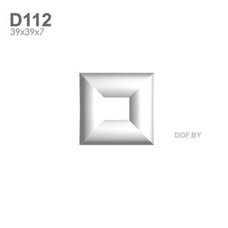 Квадрат гипсовый барельеф D112