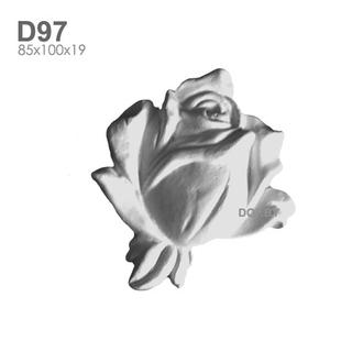 Роза, гипсовый барельеф D97