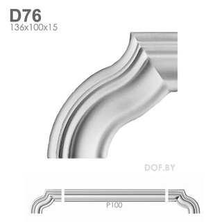 Угол для молдинга P100, D76