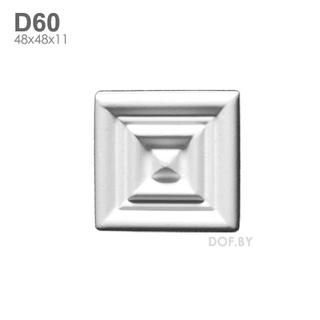 Квадрат барельеф гипсовый D60