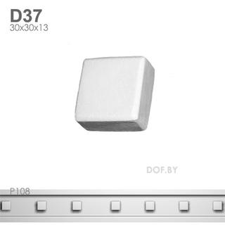 Квадратик, барельеф гипсовый, D37