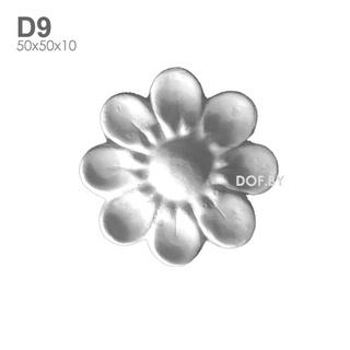 Цветок гипсовый барельеф D9