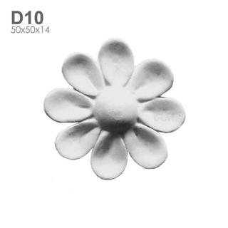 Цветок гипсовый барельеф D10