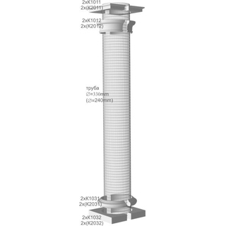 Комплект Накладок на Колонны, диаметр трубы 330мм