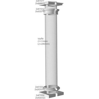 Комплект Накладок на Колонны, диаметр трубы 240мм