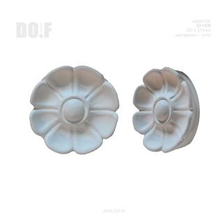 Цветок, барельеф гипсовый, D169